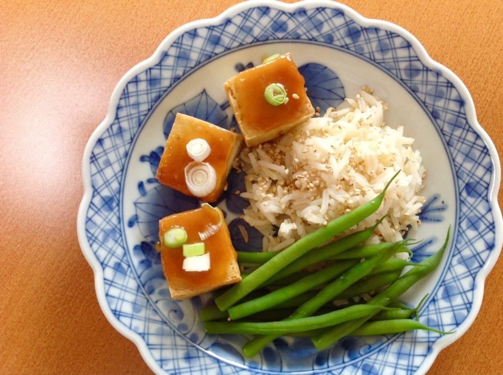 miso-topped tofu recipe