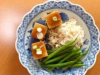 Miso-topped tofu