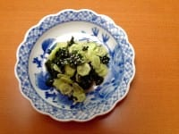 Japanese seaweed and cucumber super-salad
