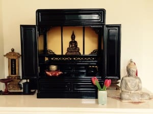 yoga home practice, altar, sacred space