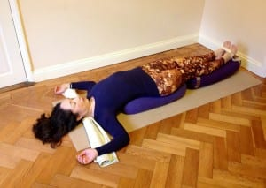 restorative yoga backbend Carol Trevor yoga for spring