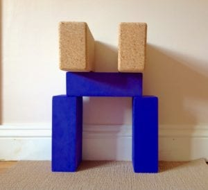 yoga bricks for headstand alignment