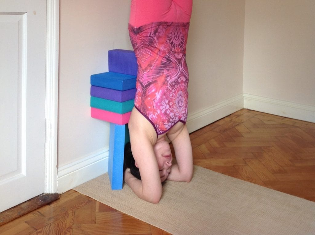 Props for Yoga Headstand Sirsasana